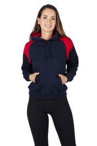 Ramo F303UN - Ladies/Juniors  Shoulder Contrast Panel Hoodie