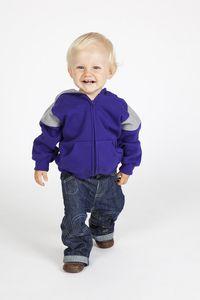 Ramo F335ZZ - Kids Shoulder  Contrast Panel Hoodies with Zipper