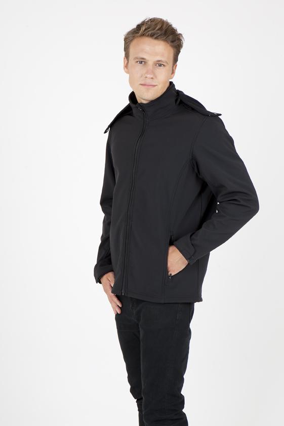 Ramo J483HZ - Men's Soft Shell HOODED Jacket - TEMPEST Range