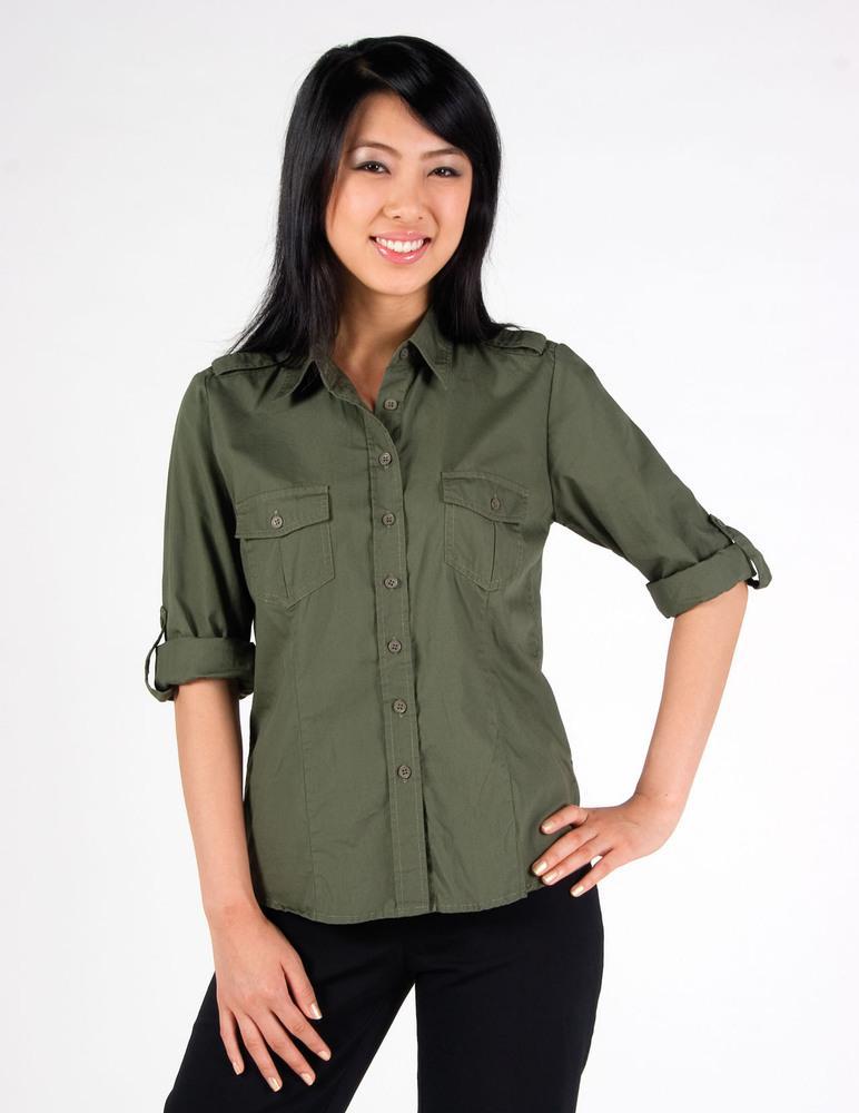 Ramo S002FL - Ladies Military Long Sleeve  Shirt