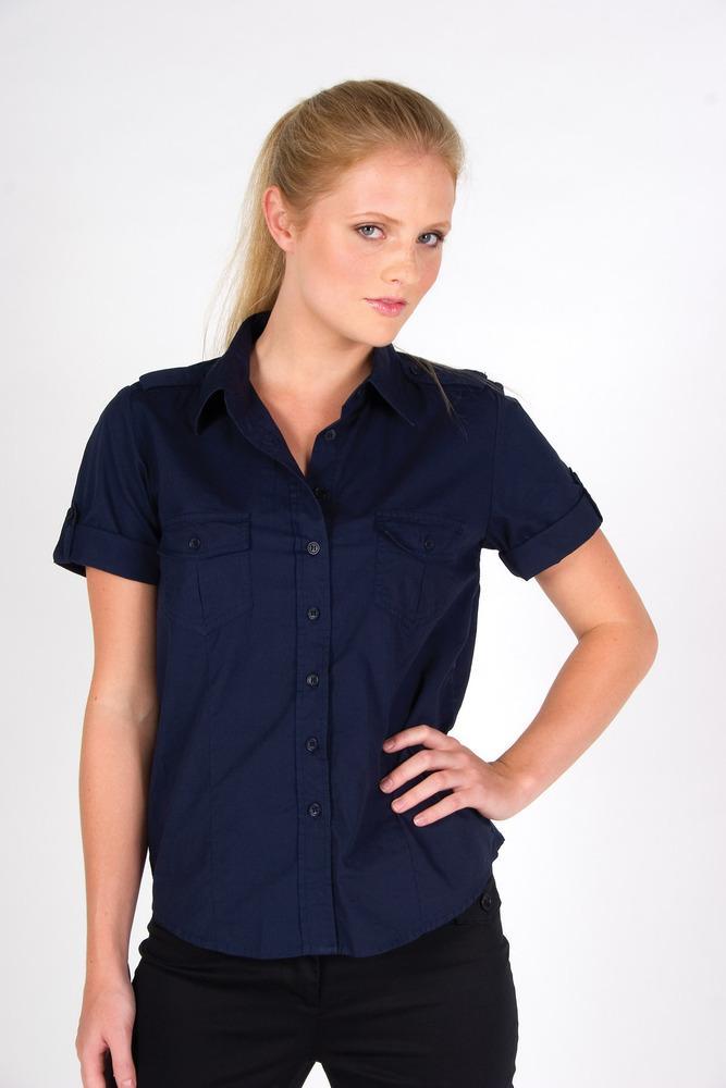 Ramo S002FS - Ladies Military Short Sleeve  Shirt