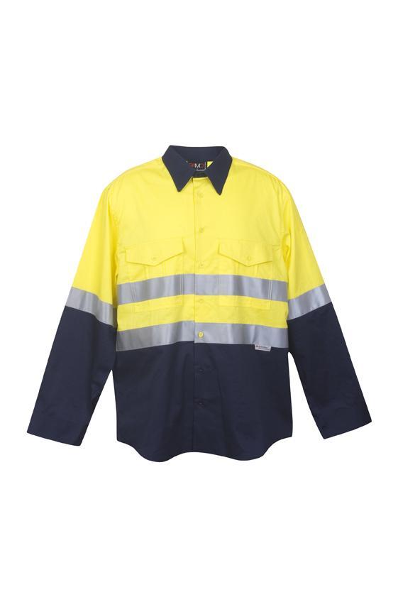 Ramo S007LP - 100% Combed Cotton Drill Long Sleeve Shirt - 3M