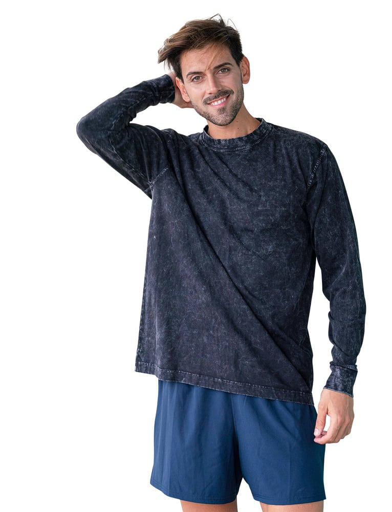 Ramo T227LS - MENS STONE WASHED LONG SLEEVE TEES