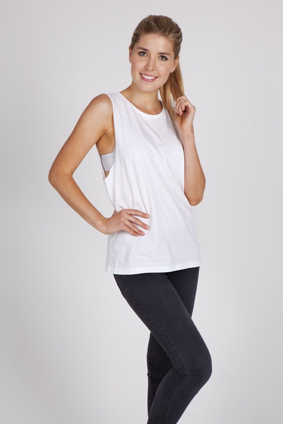Ramo T405LD - Ladies 160gsm 100% combed cotton sleeveless tee
