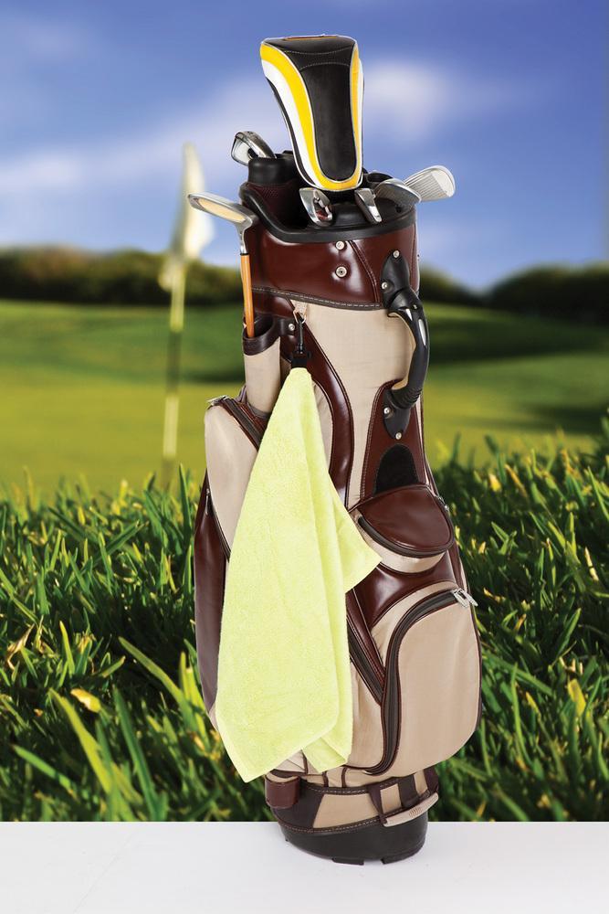 Ramo TW001G - Bamboo Golf Towel with plastic hook
