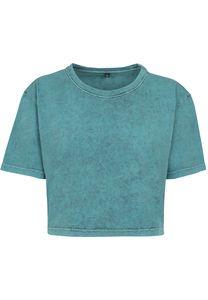 Build Your Brand BY054 - T-shirt Crop Top femme Acid