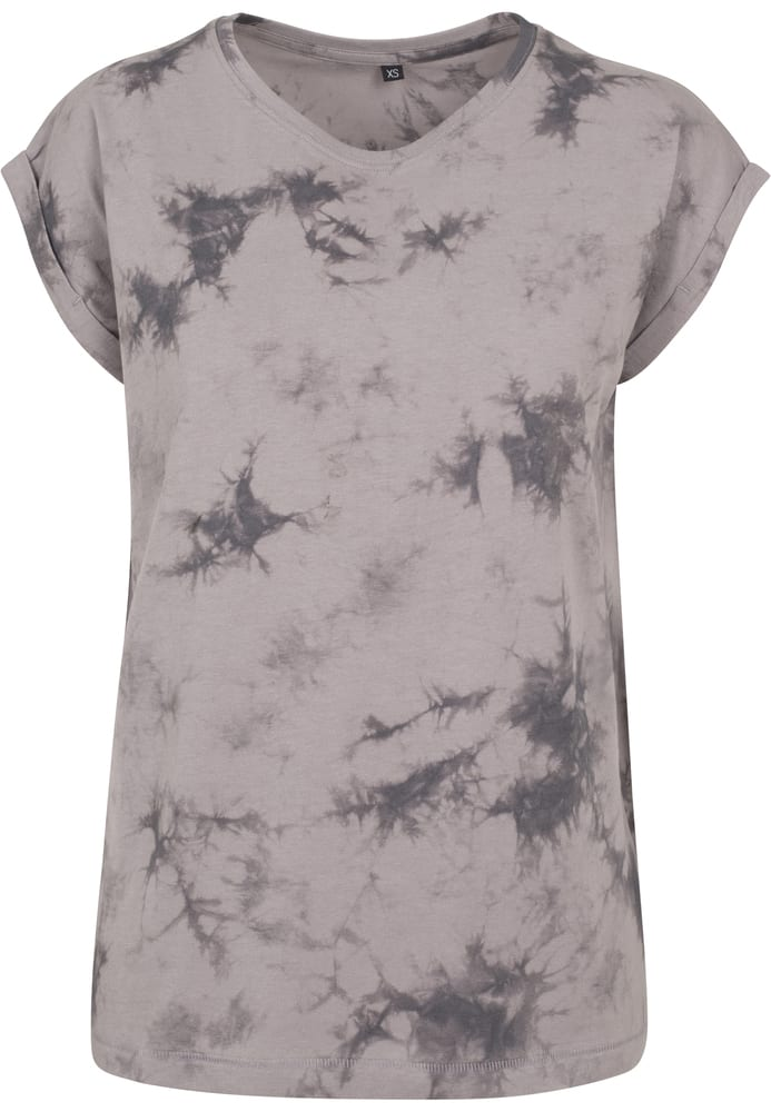 Build Your Brand BY055 - Ladies Batik Dye Extended  Shoulder Tee