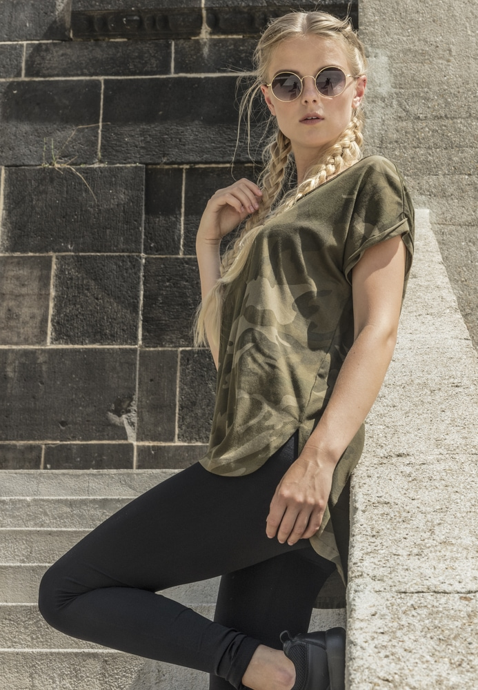 Build Your Brand BY064 - Ladies Camo Tee