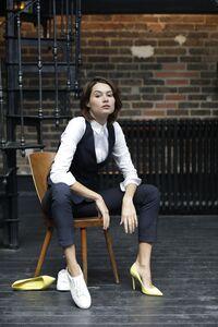 NEOBLU 03163 - Womens Elasticated Waist Suit Trousers Gabin Women