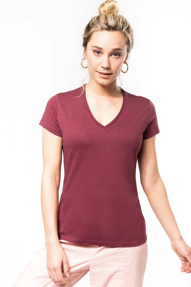 Kariban K396C - Ladies' organic cotton V-neck T-shirt