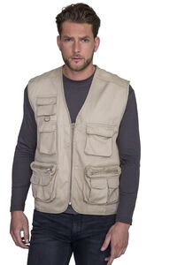 Sols 43630C - Gilet Reporter Multipoches WILD