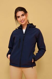 Sols 46802C - Womens Hooded Softshell Replay