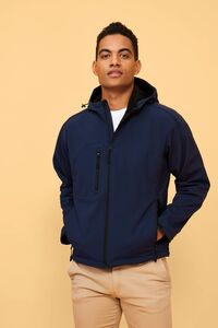 Sols 46602C - Mens Hooded Softshell Replay