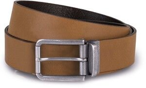 K-up KP812 - Raw edge leather belt - 35 mm