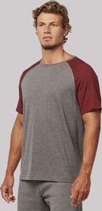 Proact PA4010 - Adult Triblend two-tone sports short sleeve t-shirt