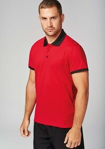 Proact PA489 - Mens performance piqué polo shirt