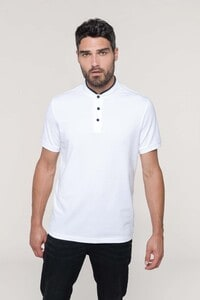 Kariban K223 - Mens short-sleeved polo shirt with Mandarin collar