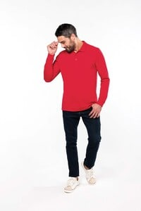 Kariban K256 - Mens long-sleeved piqué polo shirt