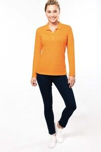 Kariban K257 - Ladies' long-sleeved piqué polo shirt