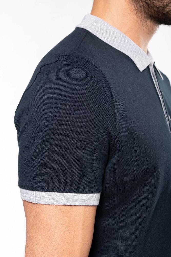 Kariban K258 - Men's two-tone piqué polo shirt