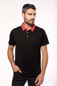 Kariban K260 - Mens two-tone jersey polo shirt