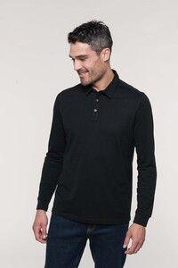 Kariban K264 - Mens long sleeved jersey polo shirt