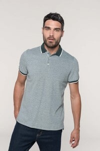 Kariban K266 - Mens two-tone marl polo shirt