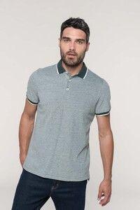 Kariban K266 - Mens two-tone marl polo shirt