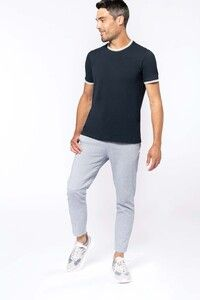 Kariban K373 - Mens piqué knit crew neck T-shirt