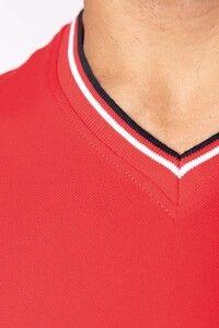 Kariban K374 - Mens piqué knit V-neck T-shirt