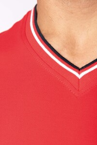 Kariban K374 - Mens piqué knit V-neck T-shirt