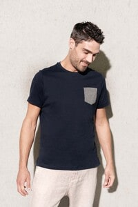 Kariban K375 - Organic cotton T-shirt with pocket detail