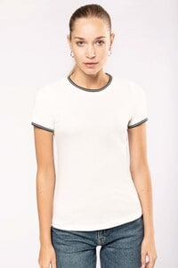Kariban K393 - Ladies' piqué knit crew neck T-shirt