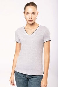 Kariban K394 - Ladies' piqué knit V-neck T-shirt