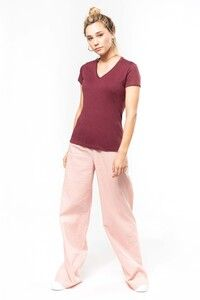 Kariban K396 - Ladies' organic cotton V-neck T-shirt