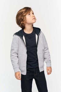 Kariban K486 - Kids' full zip hooded sweatshirt