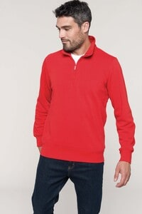 Kariban K487 - Zipped neck sweatshirt