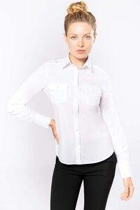 Kariban K506 - Langarm-Pilotenhemd für Damen