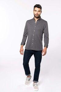 Kariban K507 - Jacquard overhemd lange mouwen