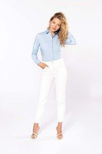 Kariban K510 - Ladies' long-sleeved cotton poplin shirt
