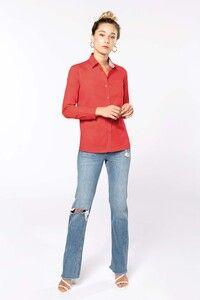 Kariban K585 - Ladies' Nevada long sleeve cotton shirt