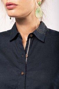 Kariban K589 - Ladies long sleeve linen and cotton shirt