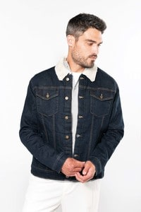 Kariban K6138 - Men's sherpa-lined denim jacket