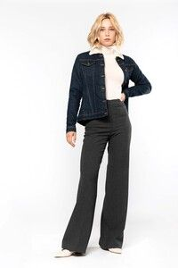 Kariban K6139 - Ladies' sherpa-lined denim jacket
