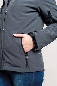 Kariban K651 - Ladies' hooded softshell lined parka