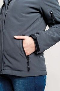 Kariban K651 - Ladies' hooded softshell lined parka