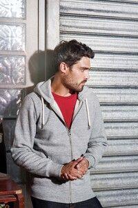 Kariban KV2306 - Sweat-shirt vintage zippé à capuche homme