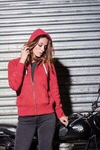 Kariban KV2307 - Ladies vintage zipped hooded sweatshirt