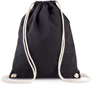 Kimood KI0139 - Organic cotton backpack with drawstring carry handles