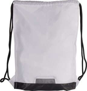 Kimood KI0163 - Drawstring bag with zipped pocket